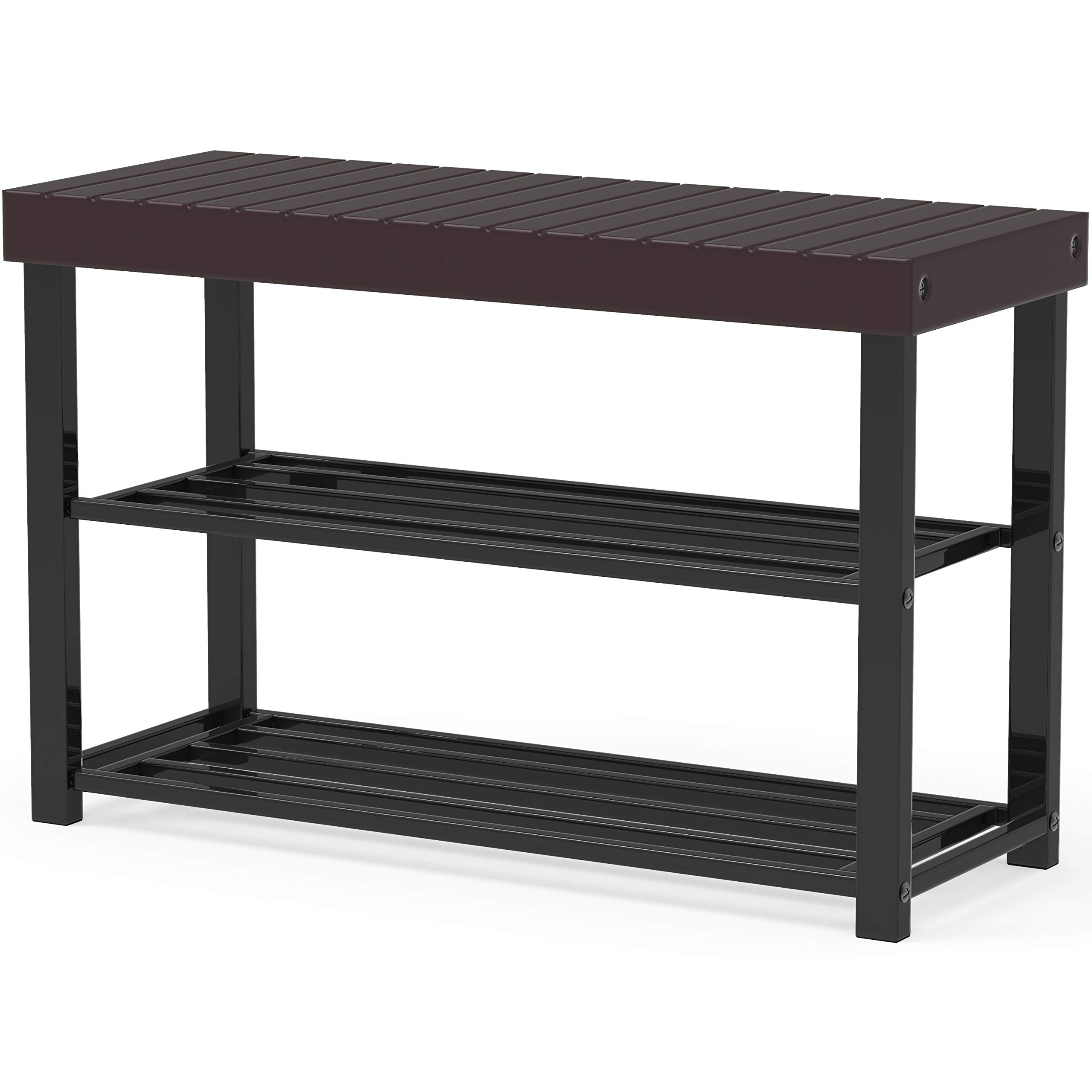 Simple Houseware Bamboo Top Shoe Bench for Entryway Shoes Storage Organizer Rack by Simple Houseware