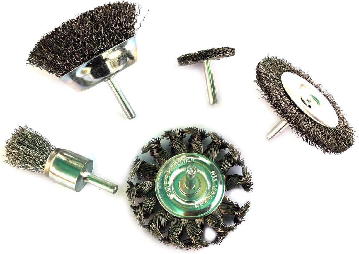 Tige souple Adaptables sur perceuses ou visseuses Lot de 5 brosses circulaires Kibros 5LOT2