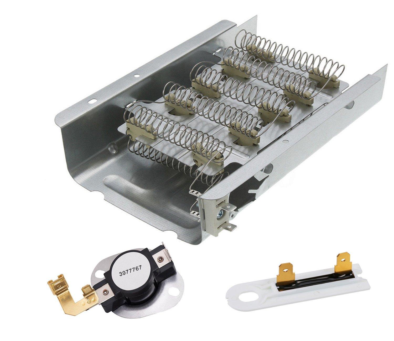 Siwdoy 279838 & 3977767 & 3392519 Dryer Heating Element Kit for Whirlpool & Kenmore Dryer
