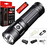 Bundle:Klarus G20 CREE Next Gen. XHP70 N4 LED 3000 Lumens Rechargeable Flashlight Dual-Switch Mini Search Light With Rechargeable 5000mAh 26650 Li-ion Battery+Skyben USB Light and Car Charger