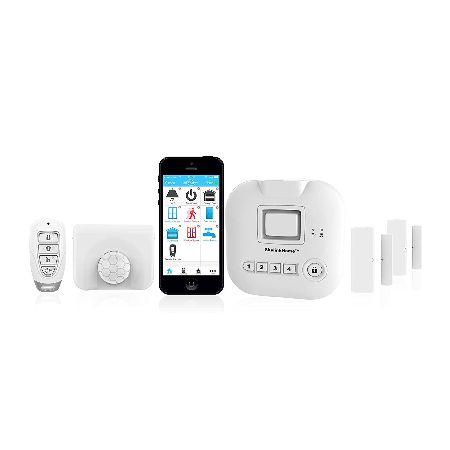 sk200 skylinknet connected wireless alarm system security u0026 home automation system ios iphone android smartphone compatible with no monthly fees