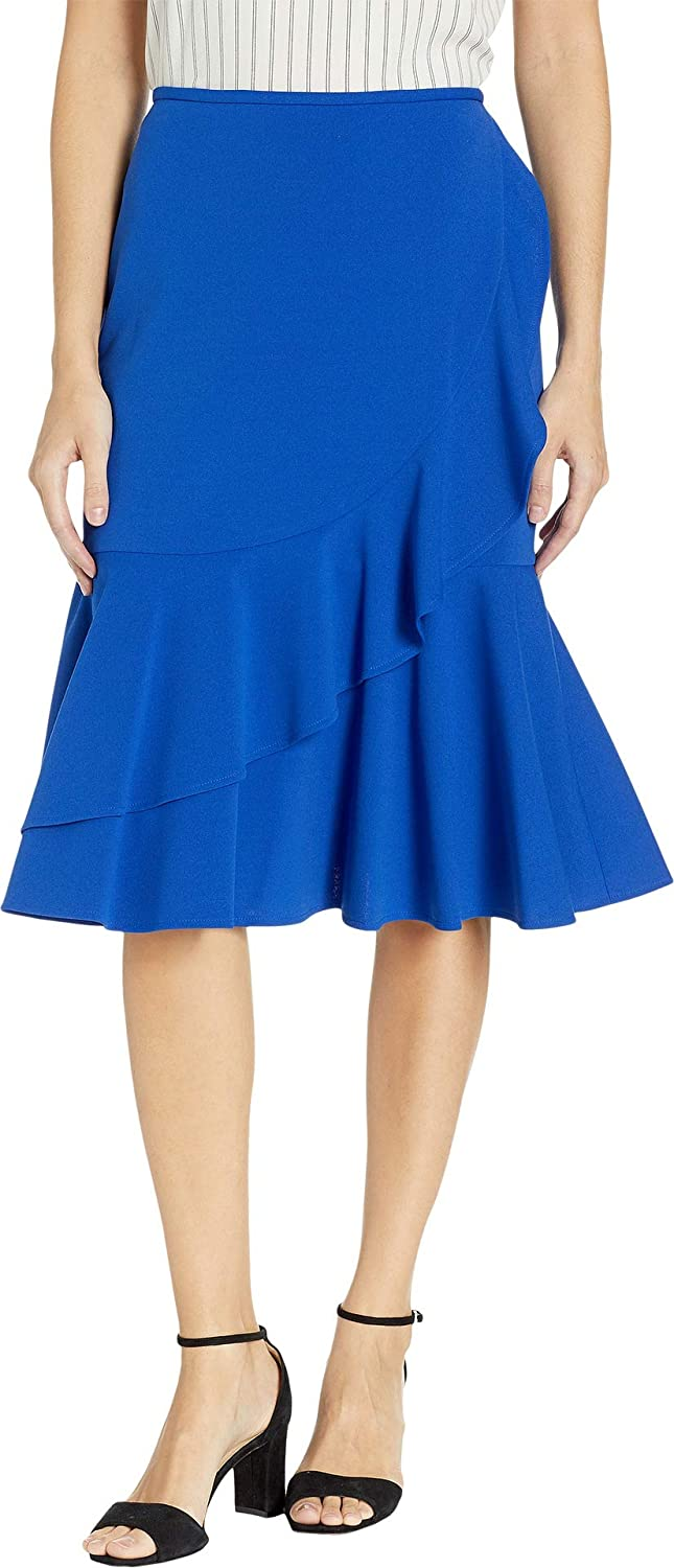7f8eb53d03 Calvin Klein Women's Ruffle Scuba Crepe Skirt at Amazon Women's Clothing  store: