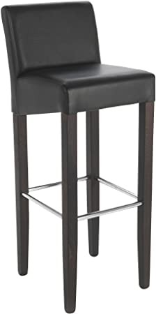 Alinea Janis Chaise De Bar Effet Cuir Marron 35 0x100 0x32 0 Amazon Fr Cuisine Maison