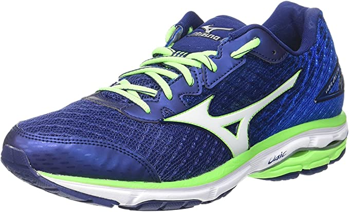 Mizuno Wave Rider 19, Zapatillas de running para hombre, azul (twilight blue/silver/green gecko), 40 EU: Amazon.es: Ropa y accesorios