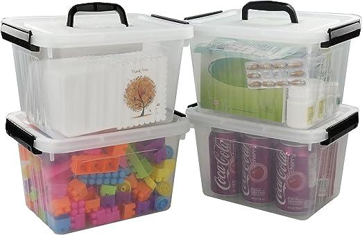 Lesbye Pequeña Caja de almacenaje con Tapa, 4 Unidades, 27 x 20 x ...