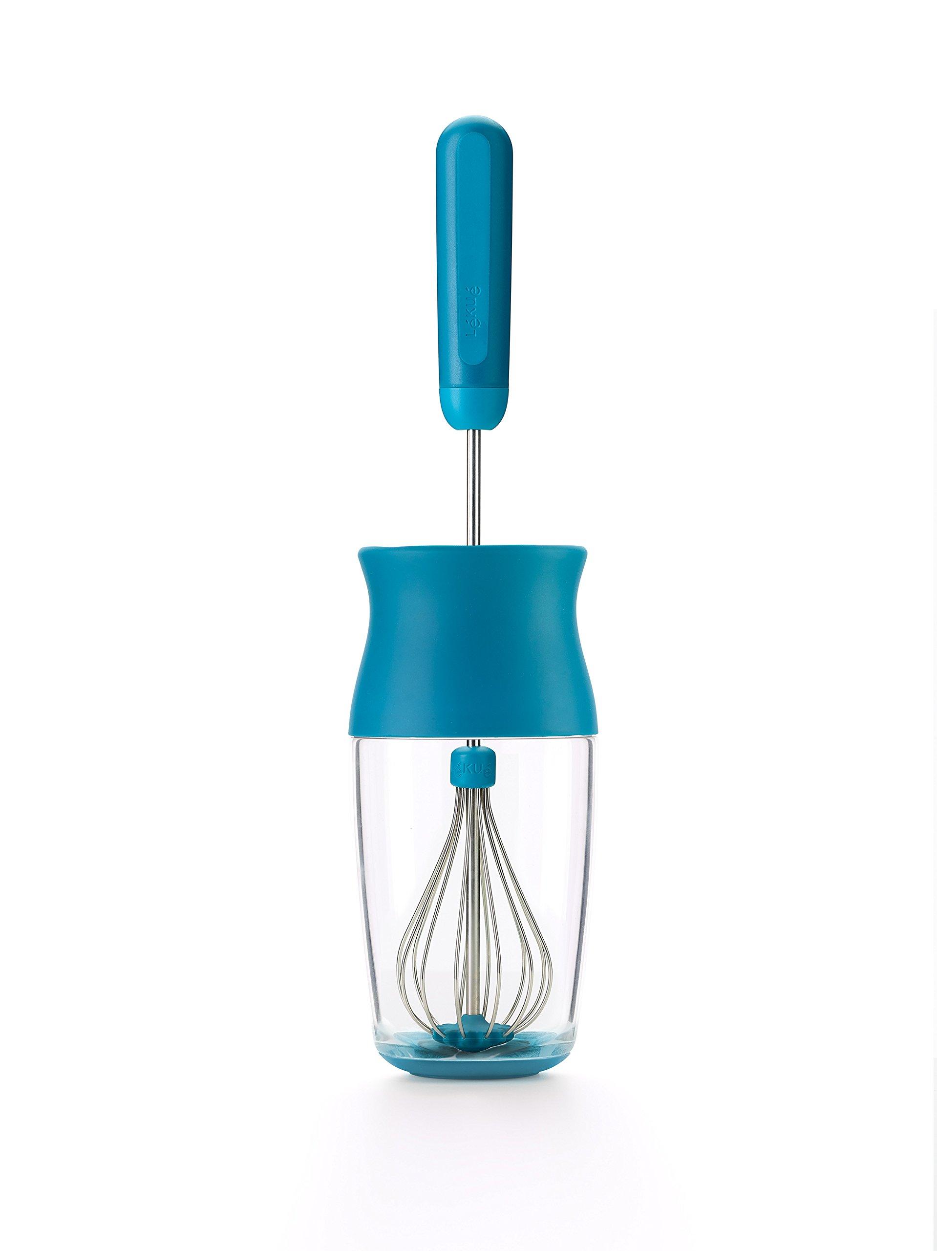 Lekue Multi Blender Kit Set Includes Batter Shaker & 2 Interchangable Whisks, Blue