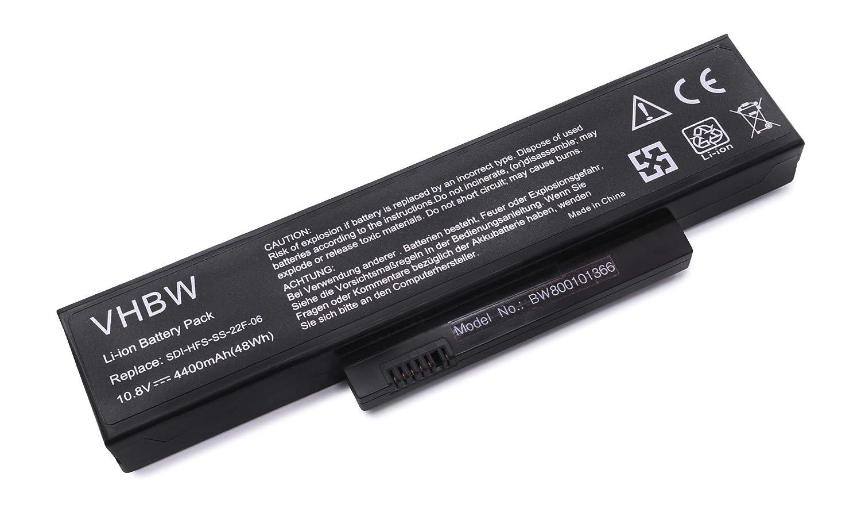 V5555 V5535 V6515 Li-Ion, 4400mAh, 11.1V, 48.84Wh, schwarz vhbw Akku passend f/ür Fujitsu-Siemens Esprimo Mobile V5515 V6555 Laptop Notebook