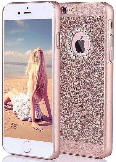 3ac745ca86 iPhone 6s Case, ImikokoTM Fashion Luxury Hybrid Beauty Crystal Rhinestone  Sparkle Glitter Hard Diamond Case