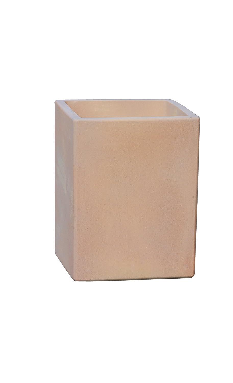 Großer Pflanztopf Pflanzkübel eckig frostsicher Größe L 30 x B 30 x H 46 cm, Farbe terrakotta, Form 246.046.53 Pflanzkübel quadratisch Qualität von Hentschke Keramik