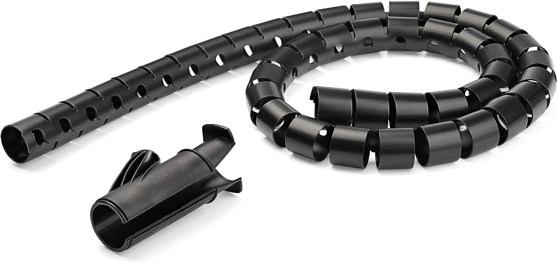 Funda de gesti/ón de cables de 2,5 m de di/ámetro Cmscoiled4 organizador de cable en espiral expandible con herramienta de carga de cables