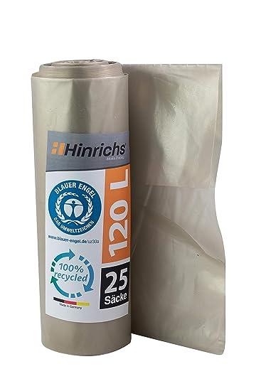 ProfessionalTree Bolsas de basura 120 l - gran resistencia al desgarro - rollo de 25 - Tipo 100 extra - Sacos de basura XXL bolsas de basura - 70 μ - ...