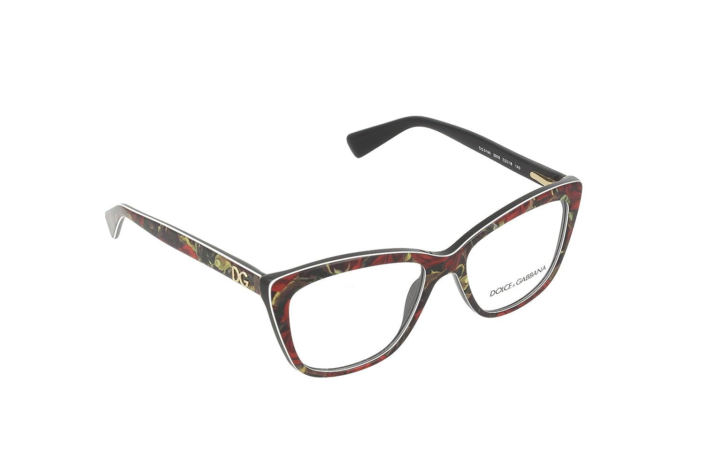 Amazon.com: Dolce&Gabbana DG3190 Eyeglass Frames 2938-52 - Printing ...
