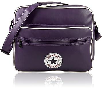 52feccbe2401a CONVERSE Umhängetasche VINTAGE PATCH PU SHOULDER BAG Notebook Tasche Lila  Greyish Lilac