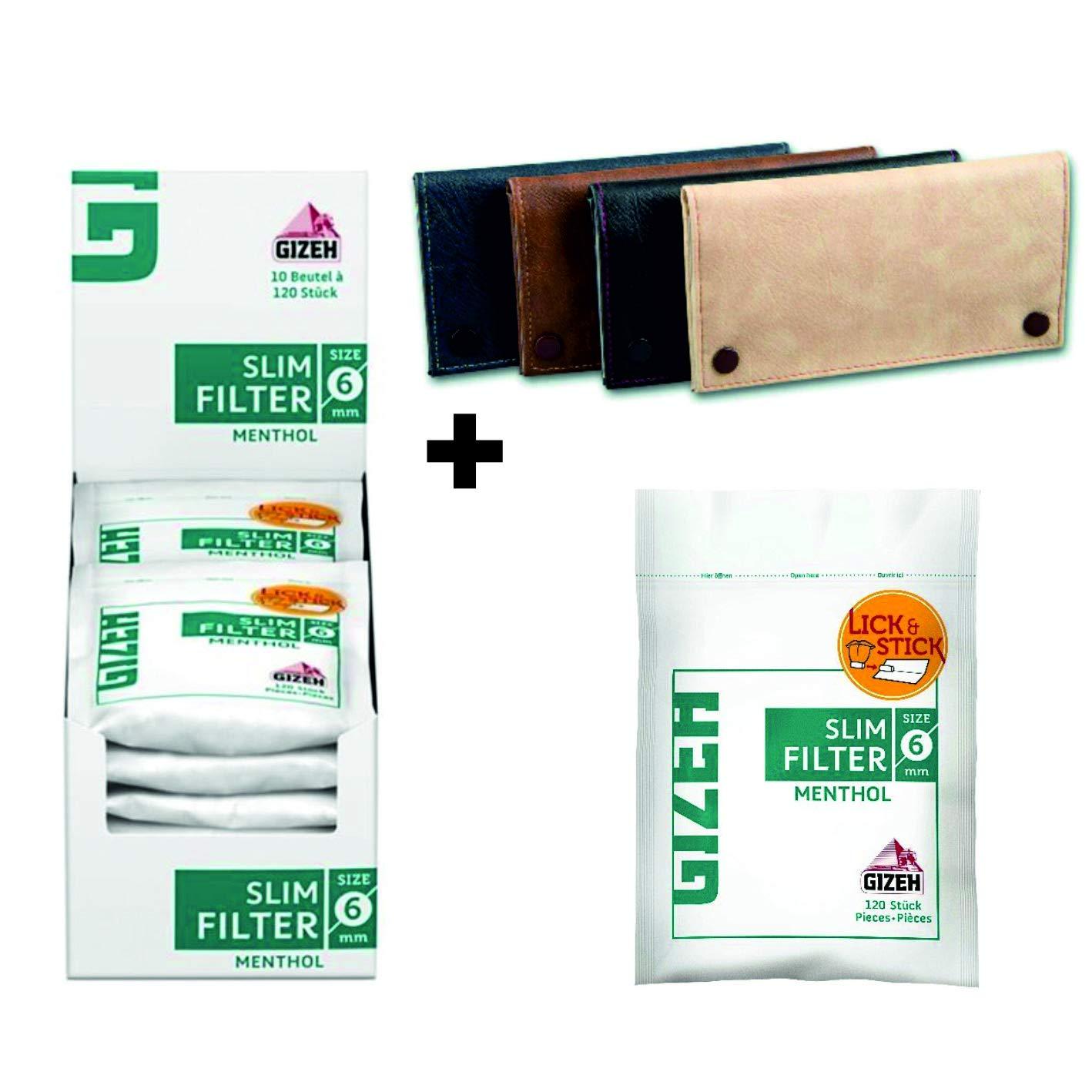 10 x 120 Dark Horse MENTHOL Drehfilter 6 mm Slim filter Finefilter Eindrehfilter