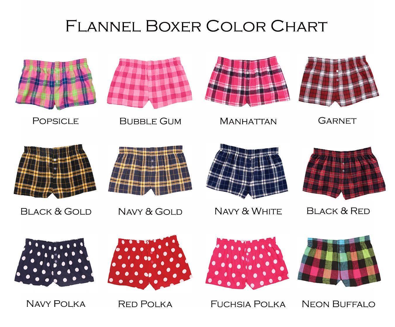 f8bb8f362c Flannel Boxers for Women Size Medium Color Red Buffalo Plaid
