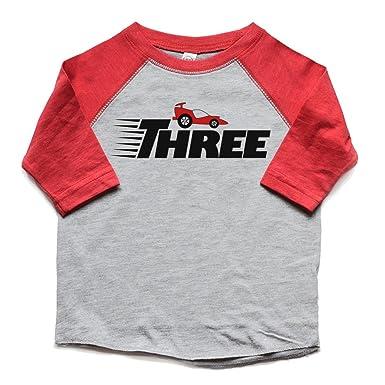 3rd Birthday Shirt Race Car Boy Girl Three Bday Toddler Raglan Tshirt Racecar Trendy Kids