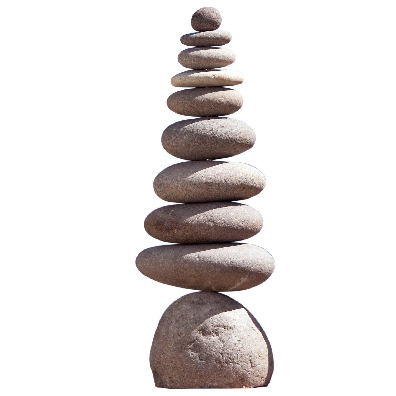 Giant Rock Cairn 28'' Inspirational Zen Garden Pile Stones by Garden Age Supply