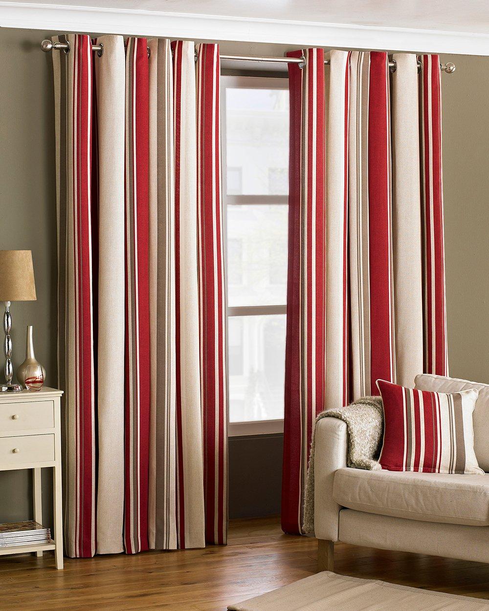 Riva Paoletti Broadway Ringtop Eyelet Curtains Pair