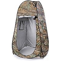 Leshp Vestiaire Pop-up - Tente de 120 cm x 120 cm x 195 cm - 180T, Pliable et Imperméable avec Sac camouflage - pour Plage et Camping