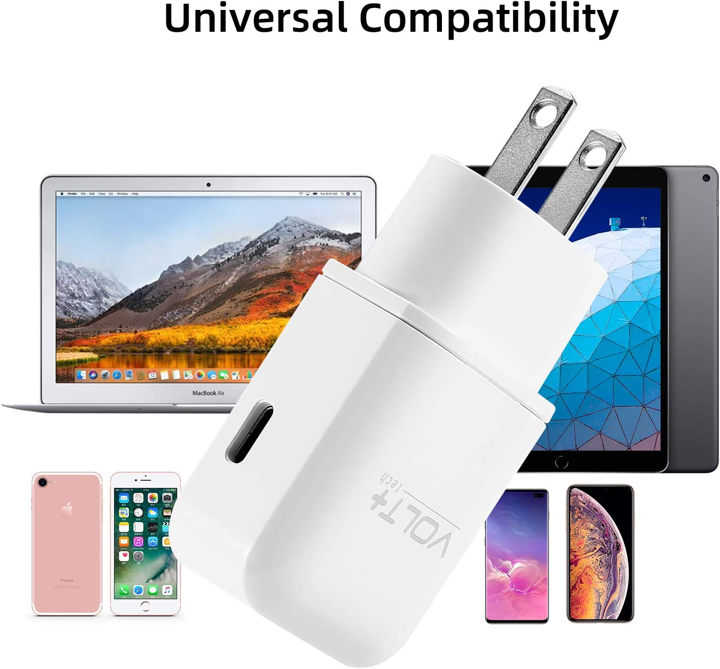 VOLT OEM Professional Kit Works with VoiceStar Mini USB Quick 21W Fast 3A Wall Charger with 5Ft//1.8M USB-C Cable!