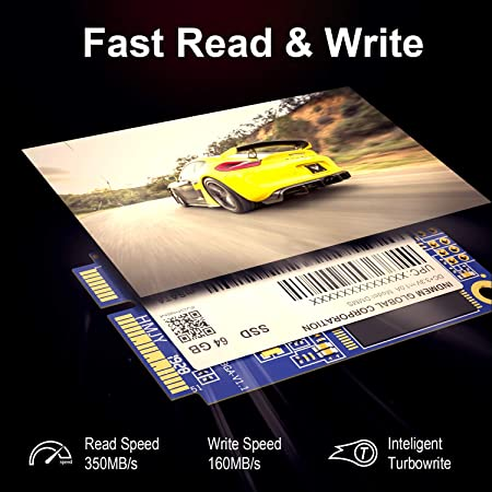 INDMEM SSD 64 GB mSATA Interno Mini SATA SSD Micro-SATA MLC NAND ...