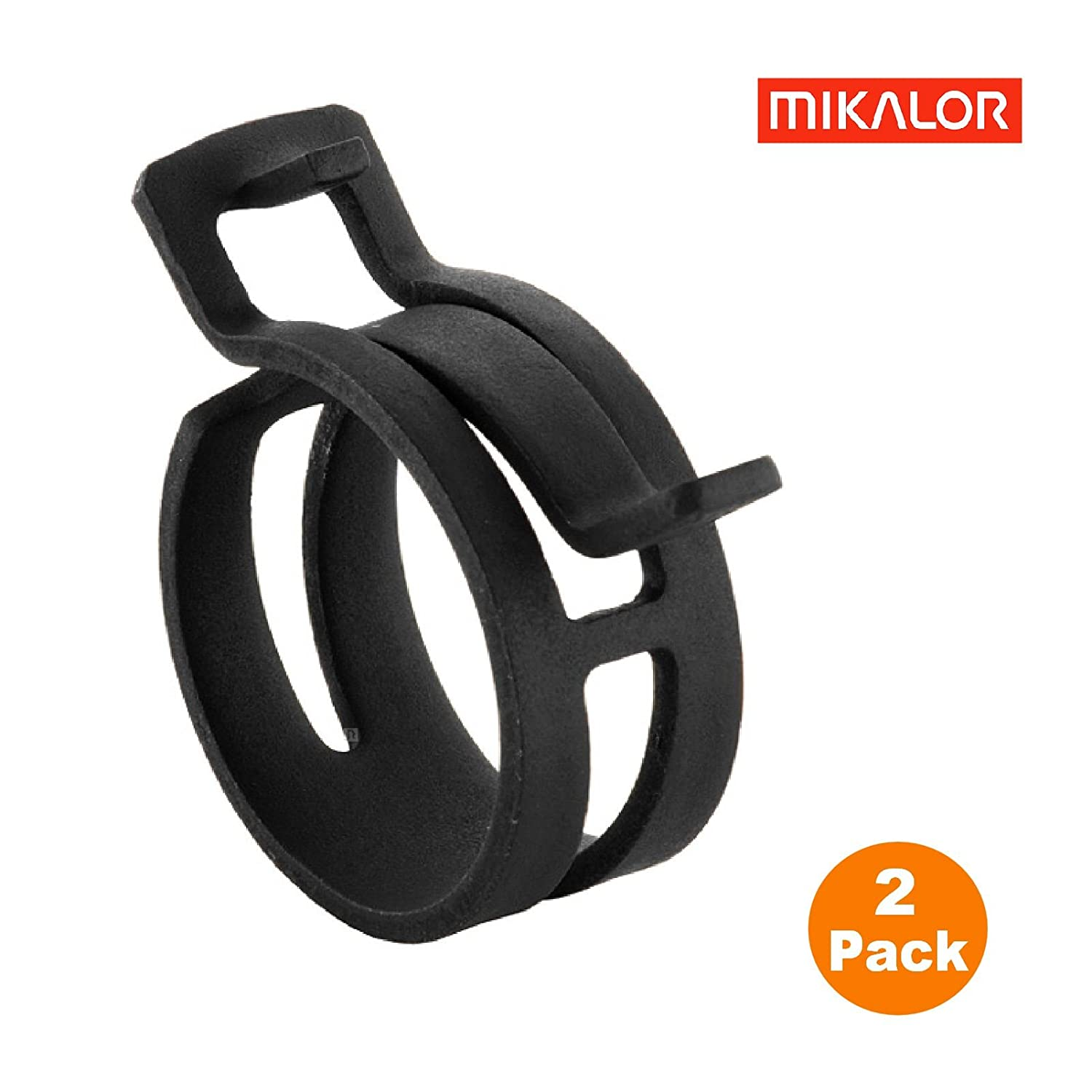2 x 40mm Mikalor W1 Heavy Duty Spring Band Clip Radiator Pipe Air Oil Fuel DIN 3021