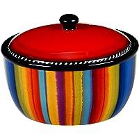 """Certified International Sierra 8.25"""" Bean Pot, 72 oz, Multicolored"""