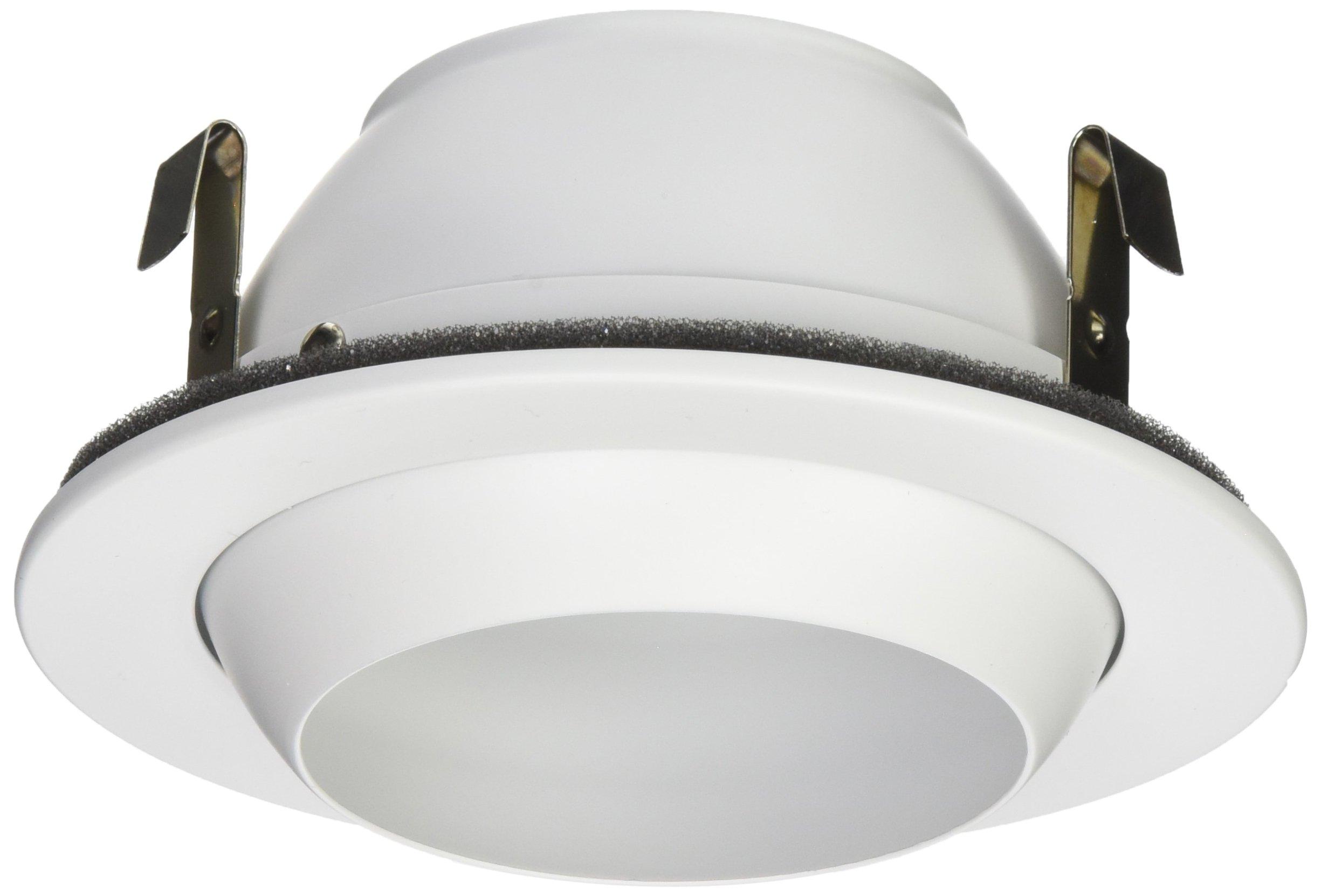 NICOR Lighting 4-Inch Adjustable Eyeball Recessed Trim, White (19506WH)