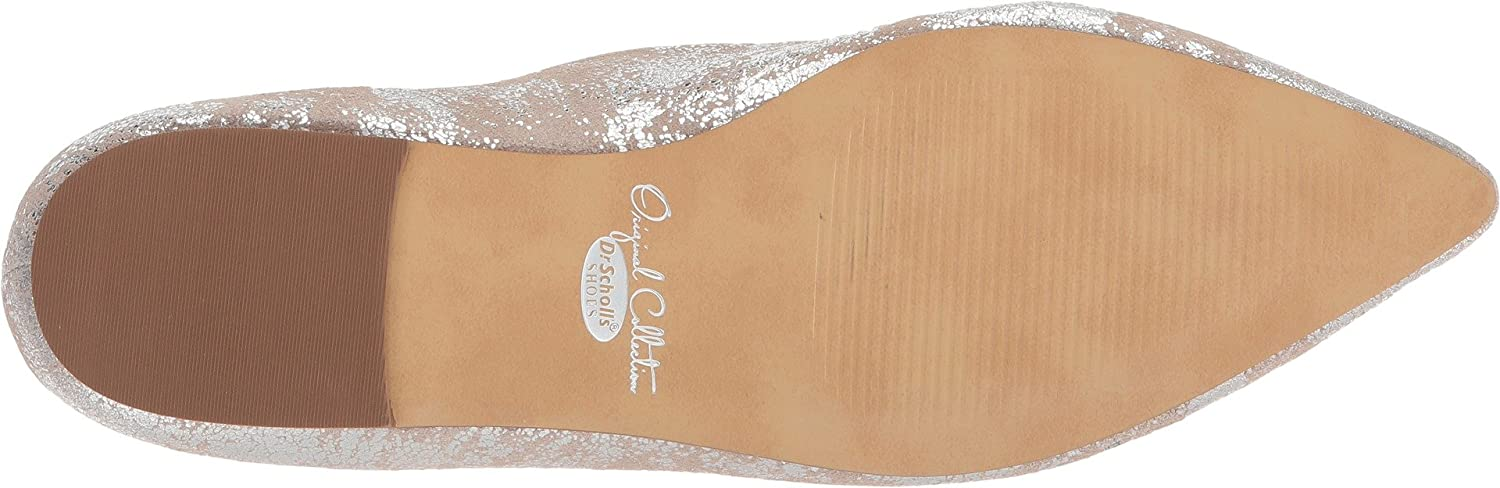 Dr. Scholl's Original Collection Women's Kimber Pointed Toe Flat B075ZYHW78 11 B(M) US|Pewter Metallic Splatter Leather