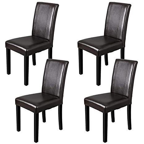 Enjoyable Zeny Leather Dining Chairs With Solid Wood Legs Chair Urban Style Set Of 4 Beatyapartments Chair Design Images Beatyapartmentscom