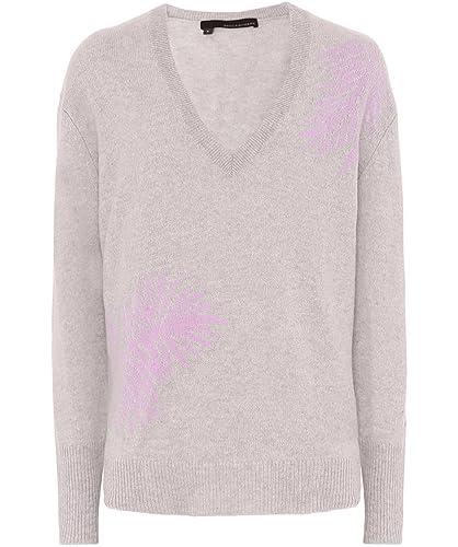 360 Sweater Mujeres flaviana vestido Palma de cachemir Shitake Y La Peonía