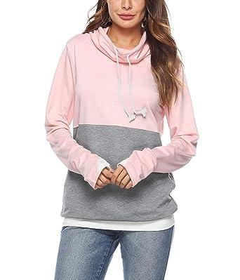 Mujeres Sudaderas Retro O-Cuello Manga Larga Sudadera Jersey Tops Blusa Camisa Camiseta Pullover Chaqueta Suéter Abrigo: Amazon.es: Ropa y accesorios