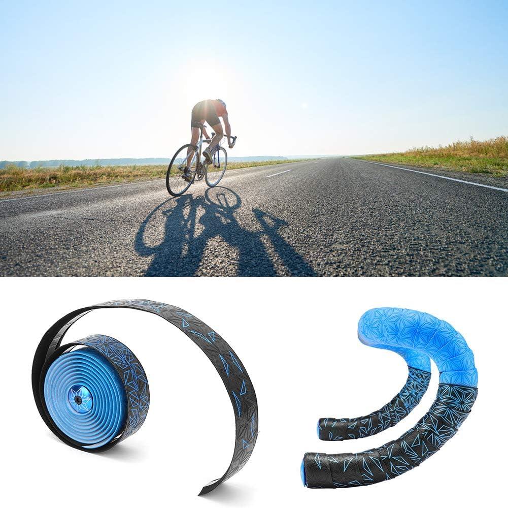 Alomejor Pu/ños de Bicicleta Cinta de Envoltura Bicicleta de Carretera Corcho Manillar Envoltura Mango de Bicicleta el/ástico