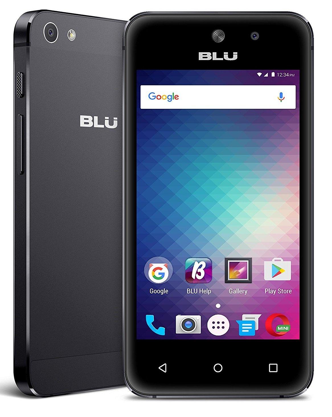 BLU Vivo 5 Mini 4'' IPS LCD Touchscreen Display, 8GB Quad-Core Android 6.0 Smartphone w/ 5MP Rear + Front Camera - Black