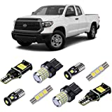 iBrightstar Super Bright Canbus LED Bulbs Package Kit fit for Toyota Tundra 2014-2019 Interior Lights + License Plate Lights