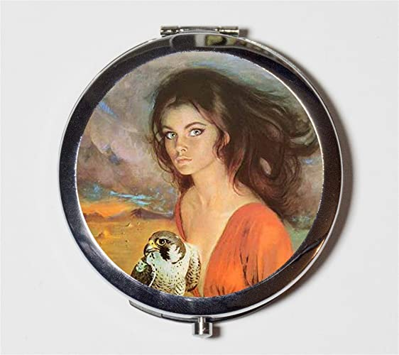 Gothic Romance Compact Mirror 1970s Retro Pulp Fiction Pocket Size for Makeup  Cosmetics