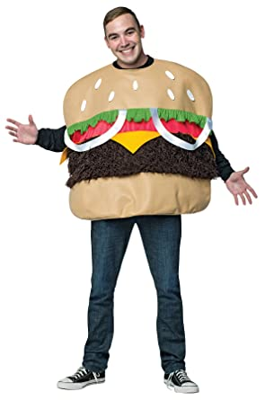 uhc mens fur burger outfit funny comical theme party adult halloween costume