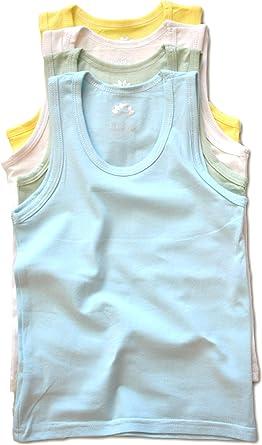 LotusComfort Premium 4 Pack Super Soft Boys Girls Unisex Kids Toddler Baby Tank Top Undershirts