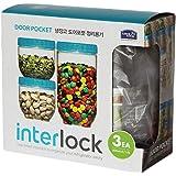 Jogo De Potes Lock&lock De Plástico Com 3 Peças Lock & Lock Multicor