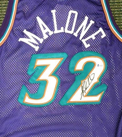 new product 20bb7 3dd3c Autographed Karl Malone Jersey - Champion Purple Beckett BAS ...