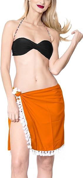 LA LEELA Rayon Donne Costume da Bagno da Bagno avvolgono Sarong Solido