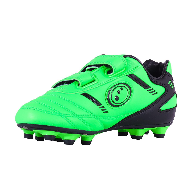 Optimum Jungen Tribal Moulded Stud Fußballschuhe, Green (Fluro Green/Black), 29EU