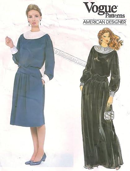 Amazon Vogue Vintage Sewing Pattern 1034 Albert Nipon Dress