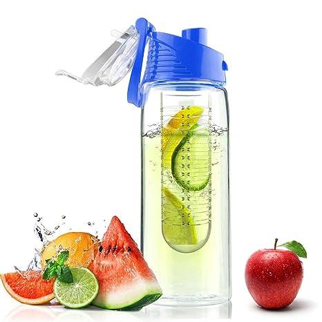MPTECK @ Azul Botella de Agua de 700ml con Infusor de ...