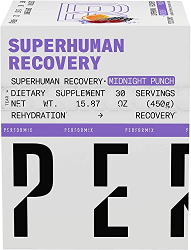 Performix Superhuman Recovery, EAAS, BCAAS, Creatine, Plant-Based Ingredients 30 Servings, Midnight Punch