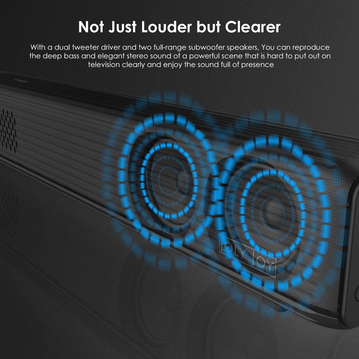 Sound Bars for TV, Joly Joy 90W TV Sound Bar Wireless Audio Speaker and Wired Home Theater Speaker System (Bluetooth 2.1-Channel, Remote Control, Wall Mountable)
