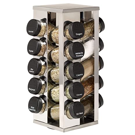 Amazon.com: Kamenstein 20 Jar Acero inoxidable giratoria ...