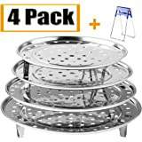 """Round Stainless Steel Steamer Rack 7.6"""" 8.5"""" 9.33"""" 10.23"""" Inch Diameter Steaming Rack Stand Canner Canning Racks Stock…"""