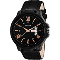 Matrix Analog Day & Date Functioning Black Dial Watch for Men/Boys (DD-52)