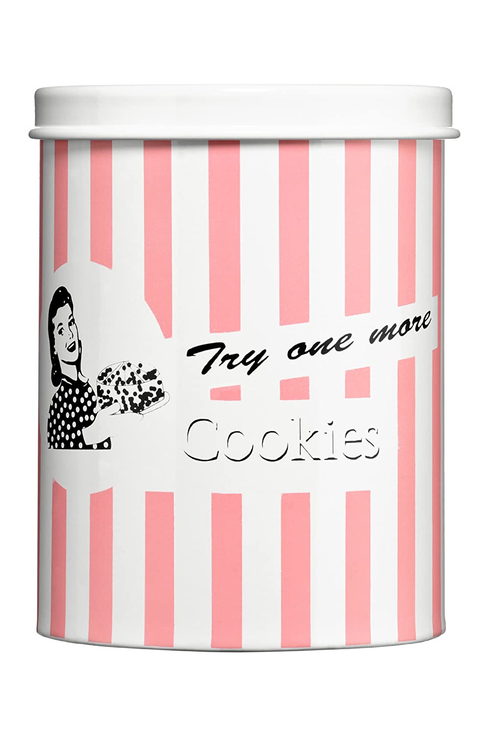 Premier Housewares Candy Stripe Cookie Canister - Blue 0507914
